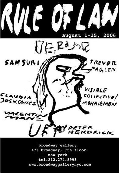 Poster for Rule of Law, curated by Valentin Manz, 2006